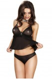 Γυναικείο σετ εσωρούχων - Chilirose Black Babydoll with Jewelry CR-3550-Black