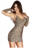 Γυναικείο Babydoll - Chilirose Cheetah Set with gloves CR-3156