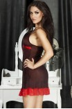 Γυναικείο Babydoll Chilirose - Babydoll and String CR-3170-black-red