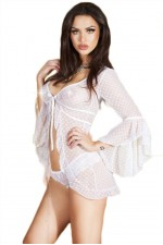 Γυναικείο σετ Babydoll - With Panties White CR-3534-White