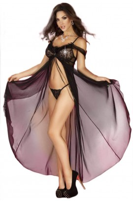 Γυναικείο σετ Babydoll - Chilirose Babydoll and String Black CR-3716-B