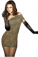 Φόρεμα- Chilirose Animal Print Dress CR-3322-Brown