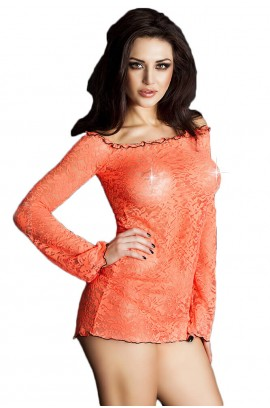 Φορεματάκι - Chilirose See-thru Dress Orange CR-3339