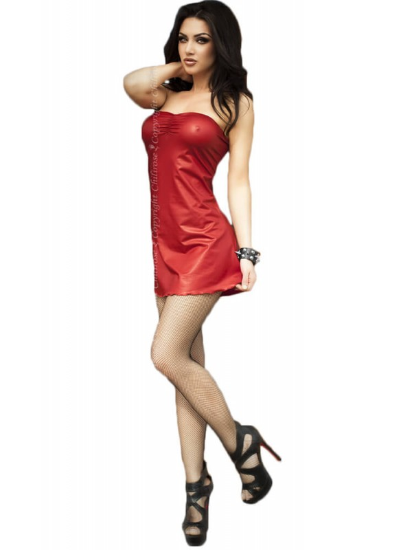 Γυναικείο φόρεμα - Chilirose Red Minidress and Panty-house Set CR-3458-Red