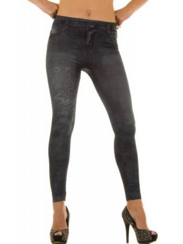 Κολάν - Sexy Leggings in Jeans print HJ1030-G