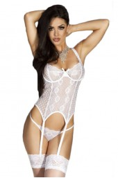 Γυναικείος κορσές - Chilirose White-Corset and String CR-3462