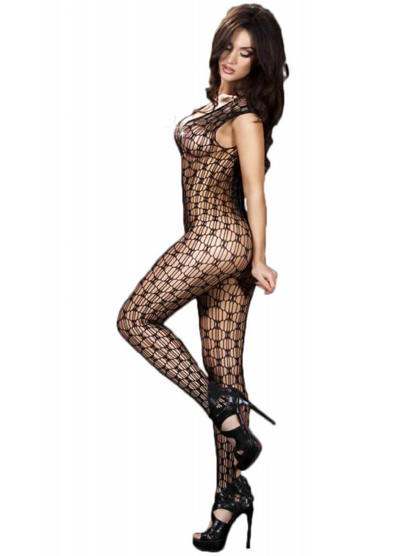 Ολόσωμο καλσόν - Chilirose Black Bodystocking CR-3595-Black