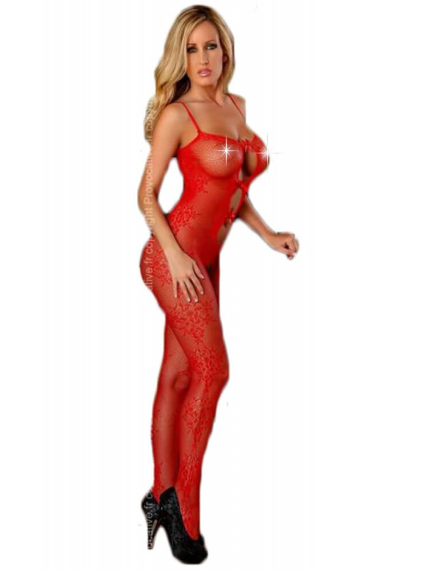 Ολόσωμο καλσόν- Provocative-Bodystockings Red PR4430