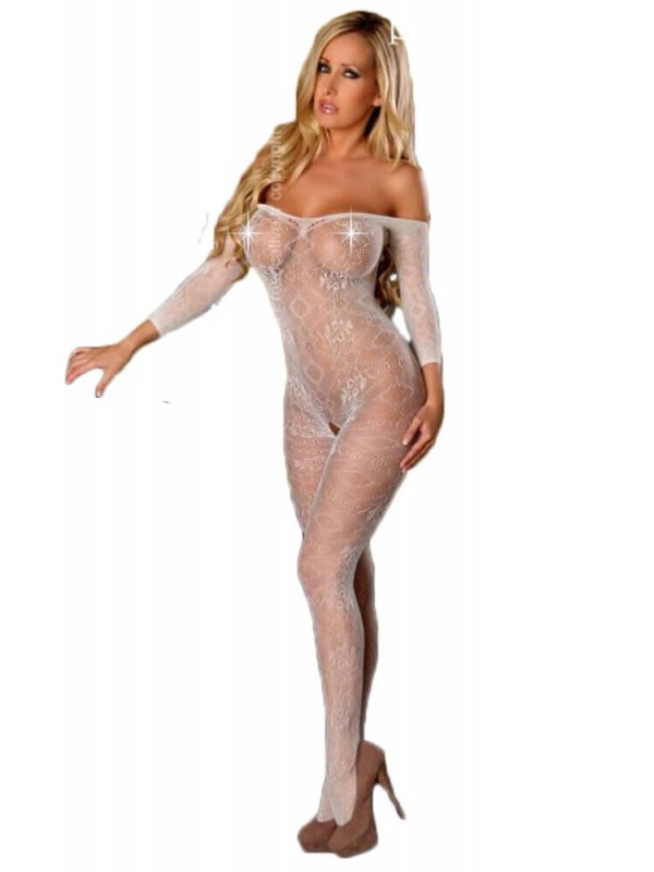 Ολόσωμο καλσόν - Provocative Bodystockings White PR4432