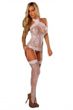 Ολόσωμο καλσόν - Provocative Bodystockings White PR4442