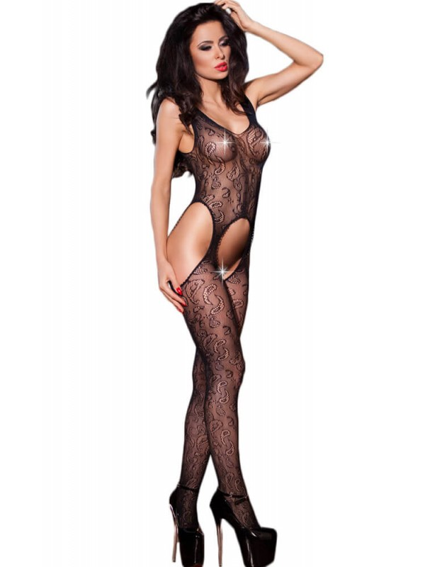 Ολόσωμο καλσόν - Chilirose Black Bodystocking CR-4055
