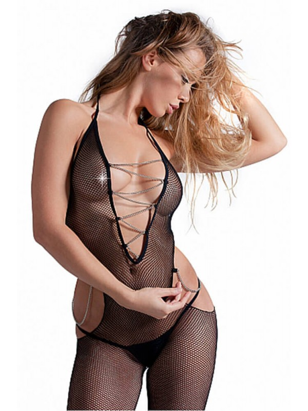 Ολόσωμο καλσόν BODYSTOCKING WITH CHAINS S4F03628