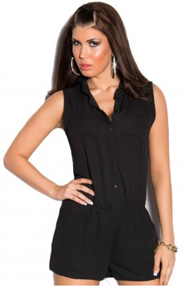Ολόσωμη φόρμα - Sexy Overall Jumpsuit ML069-Black