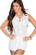 Ολόσωμη φόρμα - Sexy Overall Jumpsuit ML069-White