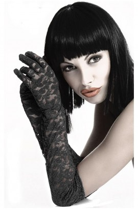 Γυναικεία γάντια - Chilirose Black Lace Gloves CR-3071-Black