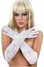 Γάντια - Chilirose White Lace Gloves CR-3071-White