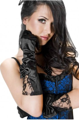 Γάντια - Chilirose Satin & Lace Gloves CR-3252