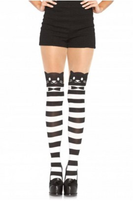 Καλσόν - FANCY CAT STRIPED PANTYHOSE LG7935