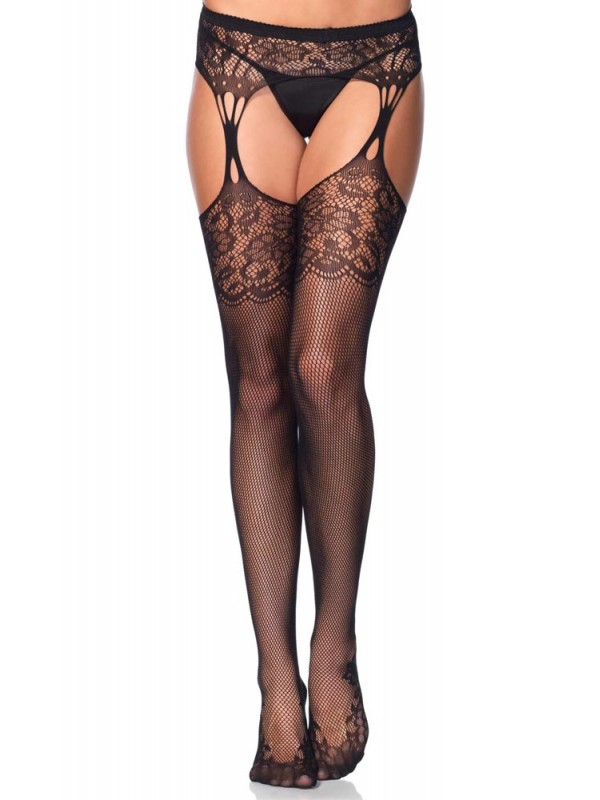 Καλσόν-ζαρτιέρα Tear drop garterbelt stockings LG1103