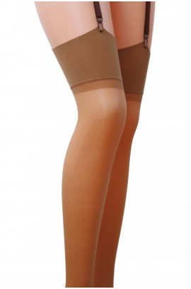 Κάλτσες - Plus Size Transluent Thigh Highs Μπεζ ST001-Beige
