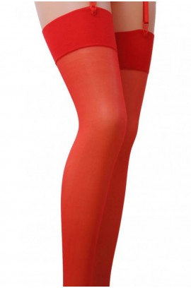 Κάλτσες - Plus Size Transluent Thigh Highs Κόκκινες ST001-Red