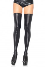 Κάλτσες - Wet Look Thigh Highs LG6901