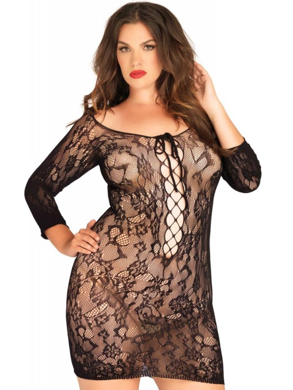 Φόρεμα - Leg Avenue Floral Lace Mini Dress LG86546Q