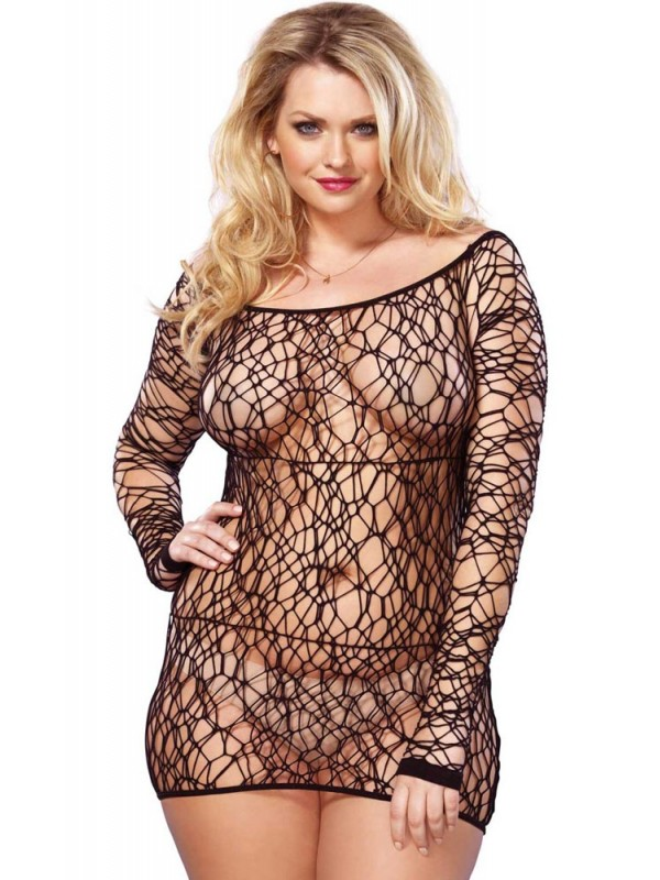 Φόρεμα - Leg Avenue Web Net Mini Dress LG86570Q