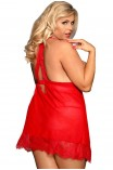 Plus Size Babydoll - Subblime Babydoll with Bows Κόκκινο S-220754