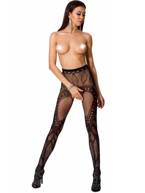 Καλσόν - ζαρτιέρα Passion Garter stockings S007-Black