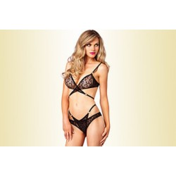 Γυναικείο Σετ Εσωρούχων Leg Avenue Leopard Lace Bra and Panty – Wild thing