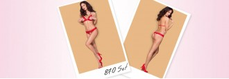Σετ Γυναικεία Εσώρουχα Obsessive 870 – Valentines just got hotter than ever