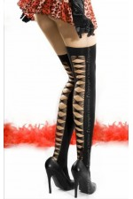 Κάλτσες - Chilirose Black Οver Knee Stockings CR-3483