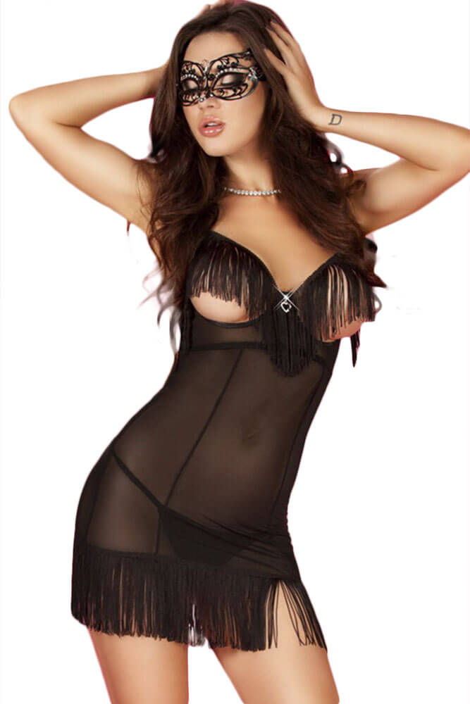 Γυναικείο Babydoll - Chilirose Babydoll with Fringes CR-3681