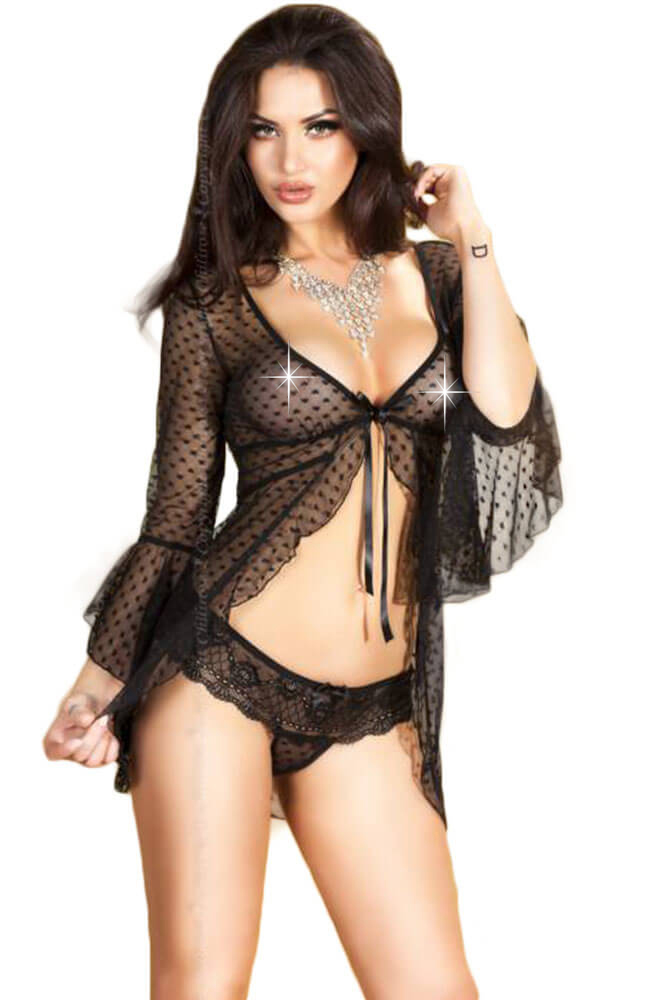 Γυναικείο σετ Babydoll With Panties CR-3534-Black