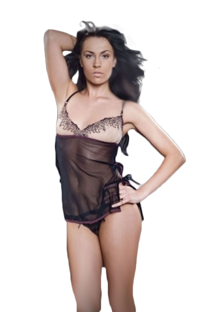 Γυναικείο Babydoll- Chemise with Embroidered Cups TL-H0014
