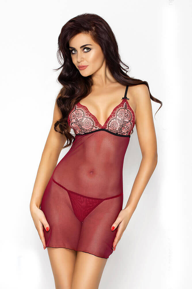 Γυναικείο Babydoll - Passion WHITNEY CHEMISE Red PS0008