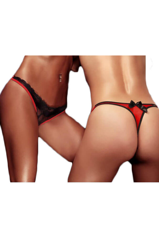 Γυναικείο Εσώρουχο- Sensualle Talisma Black and Red SL0315-Black-Red