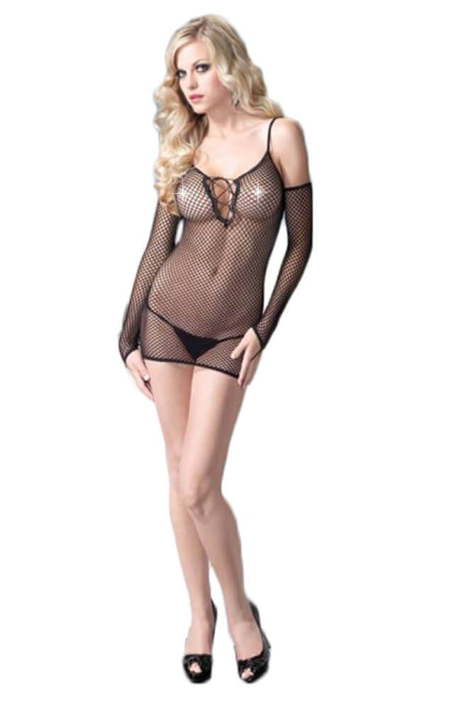 Μίνι Φορεματάκι - Leg Avenue Mini Dress, G-String, Gloves LG86385
