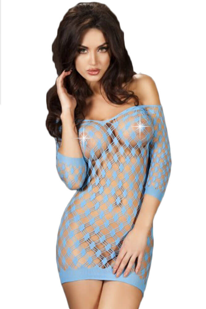Σέξι φόρεμα - Chilirose Blue Mini Dress CR-3501-Blue