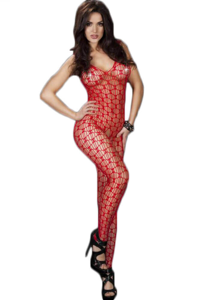 Ολόσωμο καλσόν - Chilirose Red Bodystocking CR-3595-Red