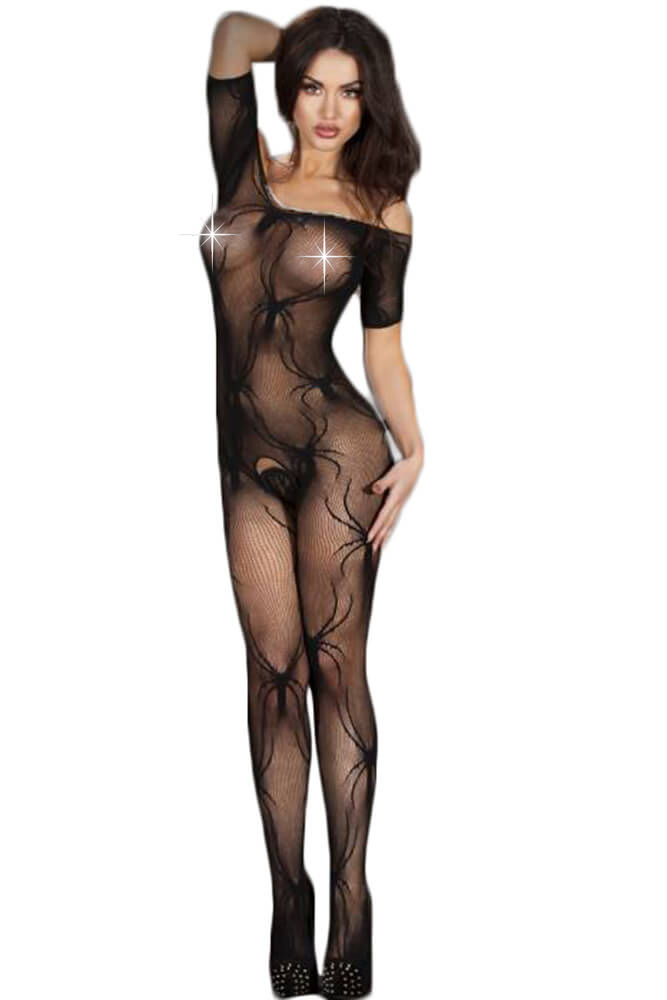 Ολόσωμο καλσόν Chilirose - Spider Bodystocking CR-3634