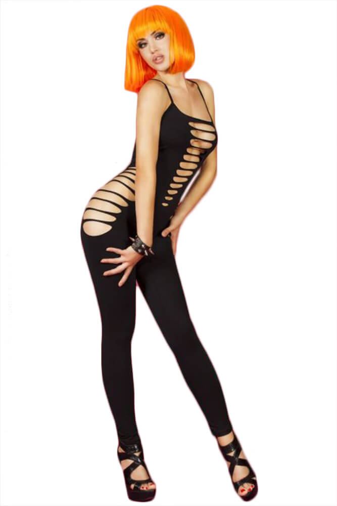 Ολόσωμο καλσόν Chilirose - Bodystocking Black CR-3655