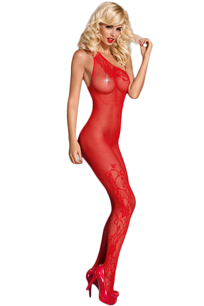 Ολόσωμο καλσόν- Obsessive Bodystocking F203-Red