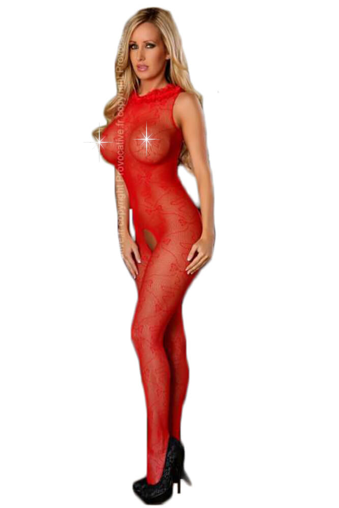 Ολόσωμο καλσόν- Provocative-Bodystockings Red PR4428