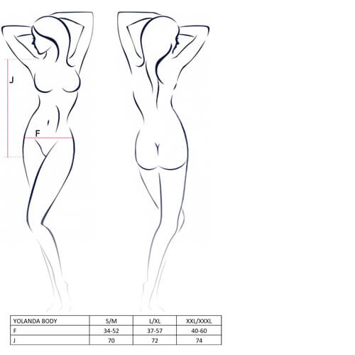yolanda body sizechart