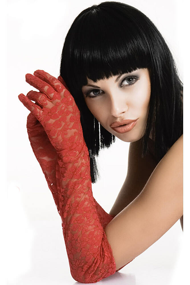 Γυναικεία γάντια - Chilirose Red Lace Gloves CR-3071-Red