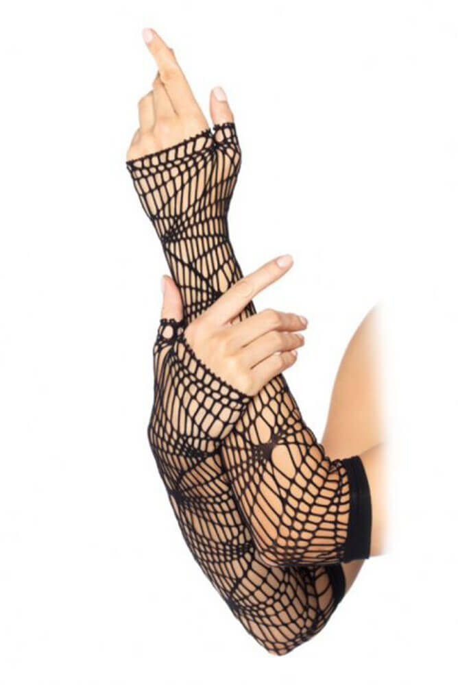 Leg Avenue Distressed Net Arm Warmers LG2114
