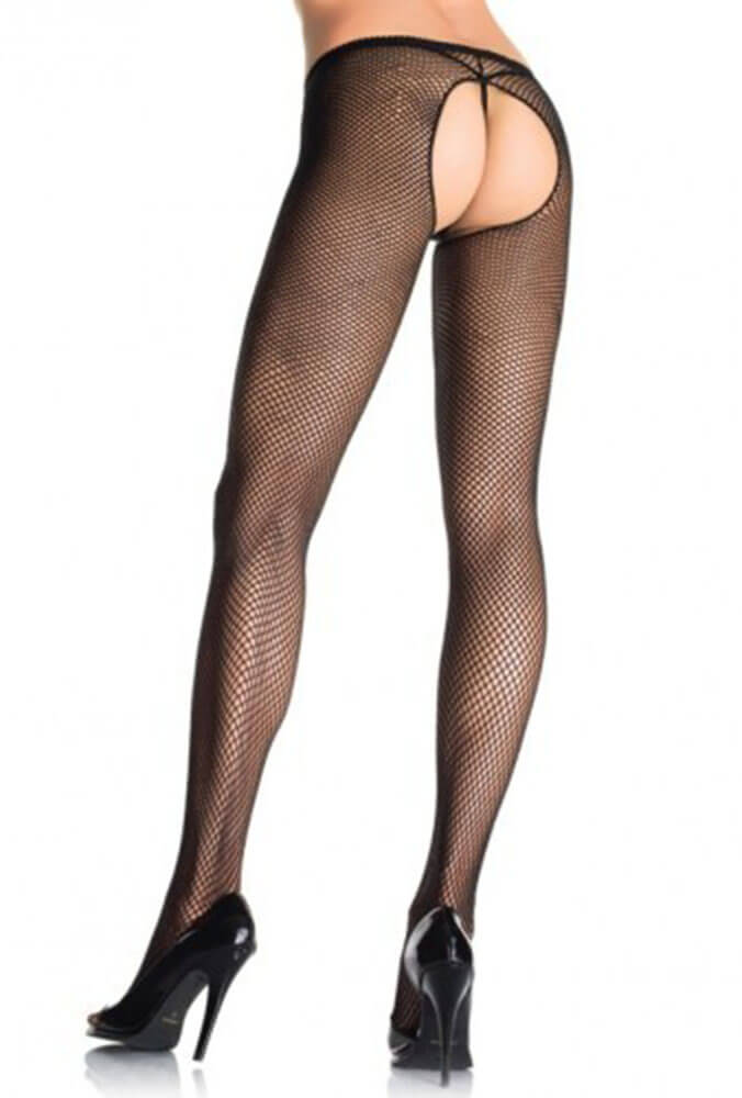 Καλσόν - PLUS SIZE FISHNET CROTCHLESS PANTYHOSE LG1404Q