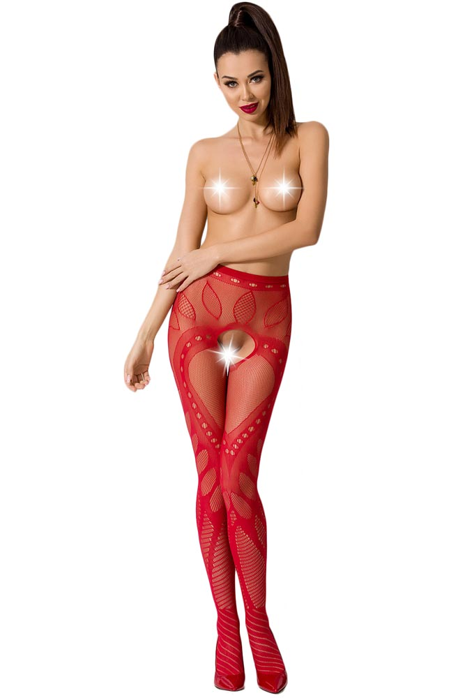 Καλσόν - ζαρτιέρα Passion Garter stockings S007-Red